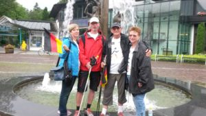 Benefiz-Nordic-Walking - Ankunft in Garmisch