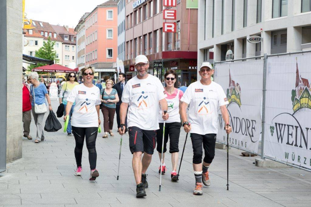 Benefiz-Nordic-Walking - on tour