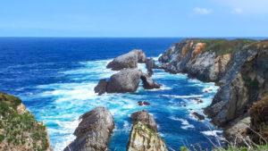 Benefizaktion - Pilgern mit Parkinson -Ausblick auf das Meer