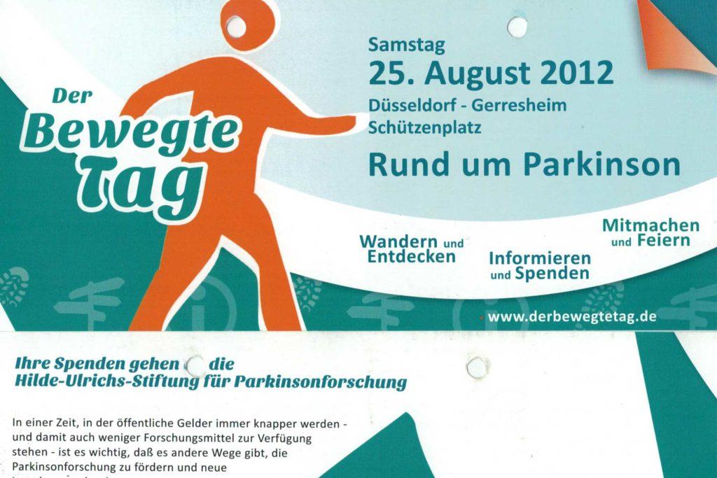 Geförderte Veranstaltung - Der Bewegte Tag 2012 - Flyer